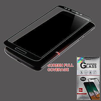 Full Coverage Tempered Glass Screen Protector for Moto G6 Forge - Black
