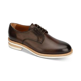 Kenneth Cole New York mens Timony läder Lace up klänning Oxfords
