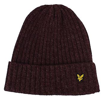 Lyle & scott mouline bacche e beanie bordeaux