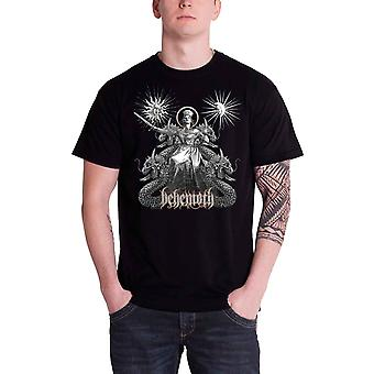 Behemoth Mens T Shirt Black Evangelion band logo Official
