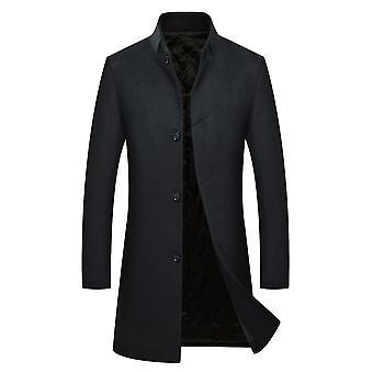 Allthemen miesten ' s Slim Fit paksu lämmin syksy & talvi Villa päällys takki