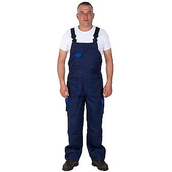 Portwest texo contrast work dungarees - blue