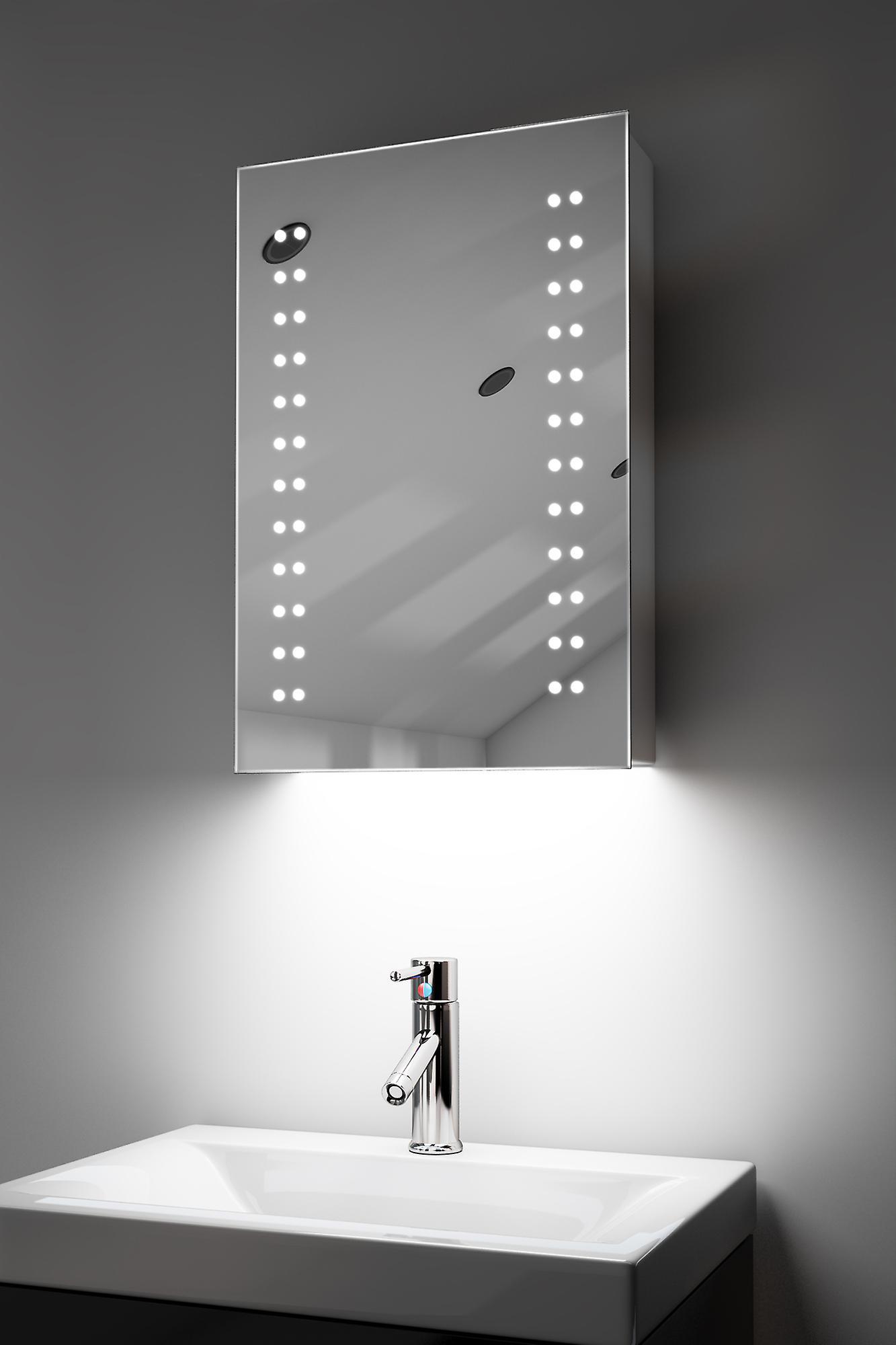 Cabinet de salle de bains audio RGB avec capteur et sockr Socket k346rgbaud
