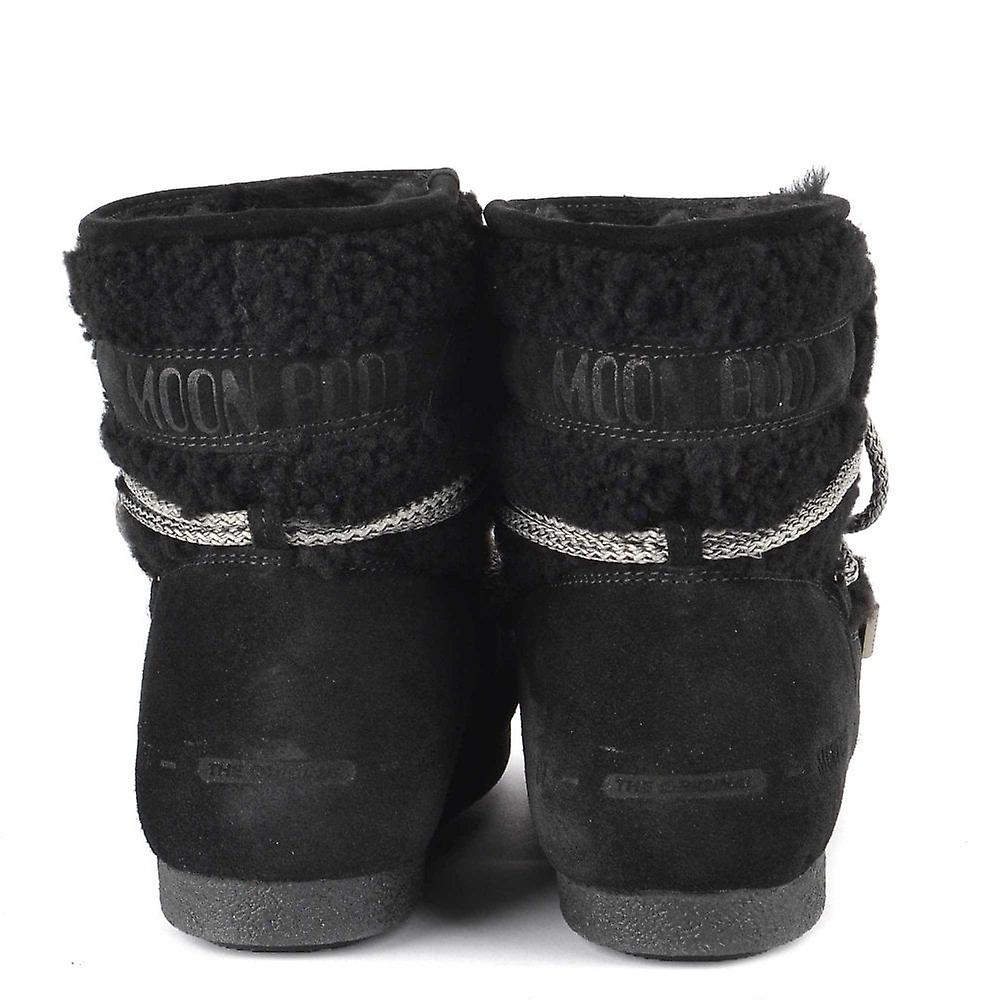 Moon Boot Far Side Noir Low Shearling