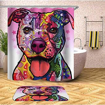 Colorful Dog Painting Shower Curtain