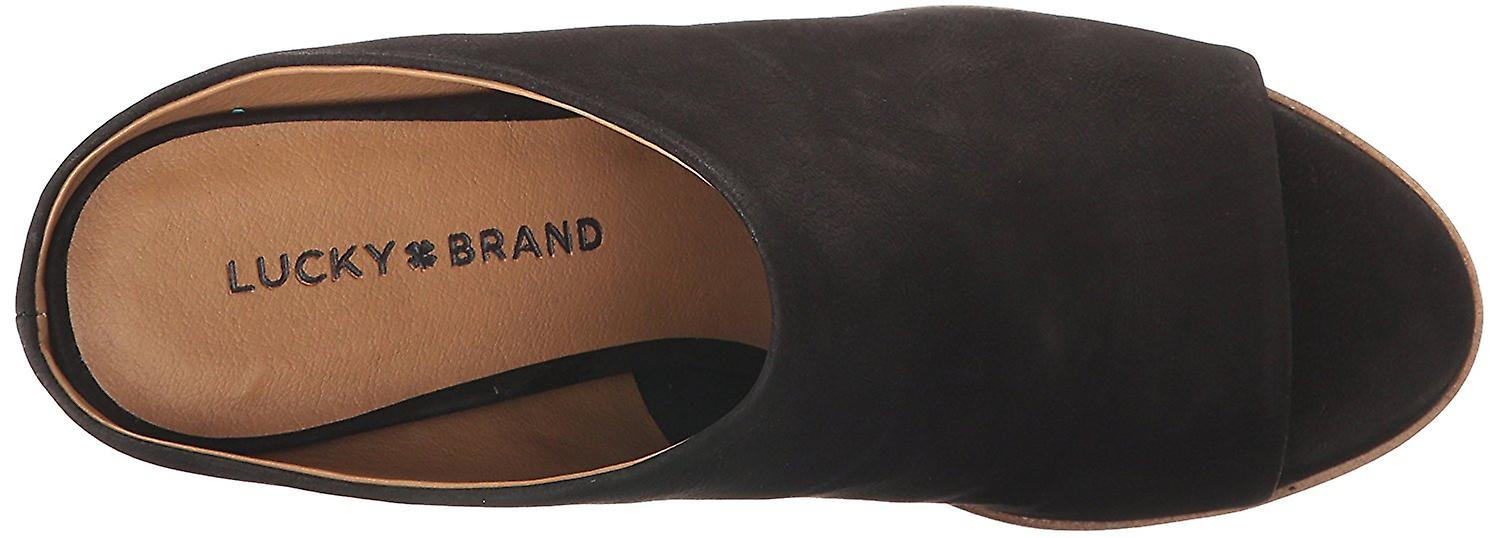 Lucky Brand Womens Organza Leather Open Toe Casual Slide Sandals