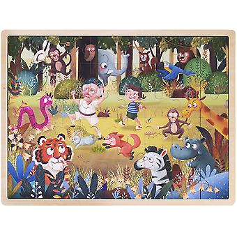 Ollie and Mr. Noodle: Silly Safari Jigsaw Puzzle