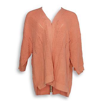 Isaac Mizrahi Live! Kvinner ' s genser Mix Stitch lys rosa A353853