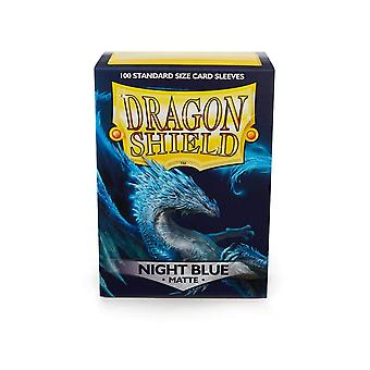 Dragon Shield Standard Matte Sleeves Night Blue 100 Mangas (Pacote de 10)