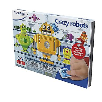 Miniland 36070 On The Go Crazy Robots Toy