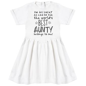 I'm As Lucky As Can Be Best Aunty belongs to me! Baby Dress
