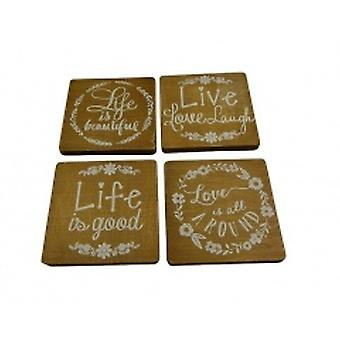 Gisela Graham Live Life Love Coasters