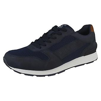Mens Bugatti Smart Lace Up Trainers 323-30805-5900