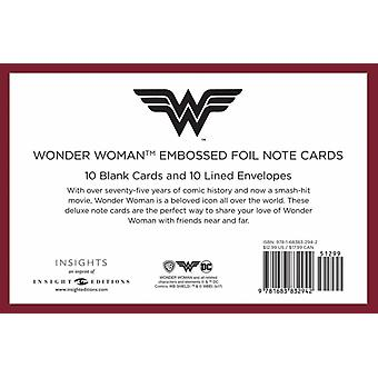 DC Comics Wonder Woman Embossed Foil Note Cards