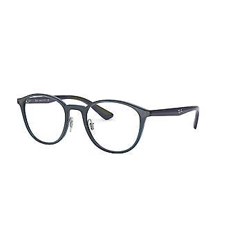 Ray-Ban RB7156 5796 Trasparent Dark Blue Glasses