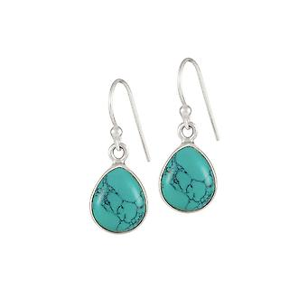 Eternal Collection Destiny Turquoise Sterling Silver Drop Pierced Earrings