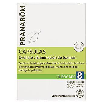 Pranarom Oleocaps 8 dränering och toxin avlägsnande 30 kapslar