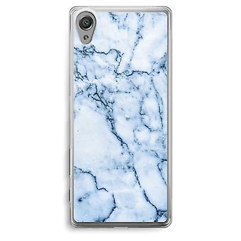 Sony Xperia XA Transparent Case - Blue marble