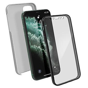 Silikon-Gehäuse + Rückenabdeckung aus Polycarbonat für Apple iPhone 11 Pro - Silber