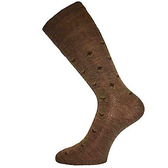 Mens HJ HALL Diamond Softop Non Elastic Sock  6-11 Taupe