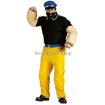 Brutus Popeye Sailor Licensed Dress Up Men Costume STD