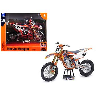 KTM 450 SX-F #25 Marvin Musquin Red Bull Factory Racing 1/10 Diecast Motorcycle Model by New Ray