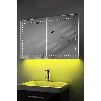 Schrank mit LED unter Beleuchtung, Sensor & interne Rasierer k371 muss