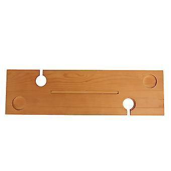 Kabalo fa Bath Caddy tálca kád Board polc borozó pohár & gyertya & Tablet Holder