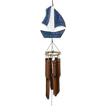 Carillon de vent sculpté de voilier
