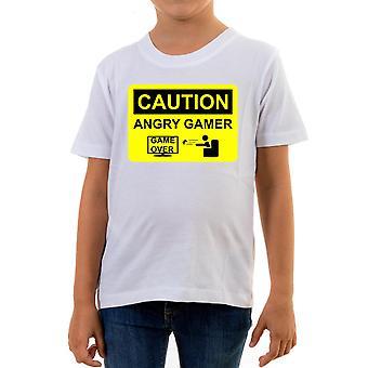 Reality glitch angry gamer kids t-shirt