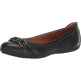 Comfortiva Women's, Maloree Slip on Flats, Black Duster, Maat 6.0