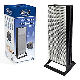 Silentnight Tower PTC Ceramic Heater 2000 Watt With Heat and Cooling Settings