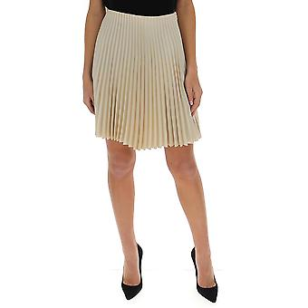 Theory J1205302qe1 Women's Beige Polyester Skirt