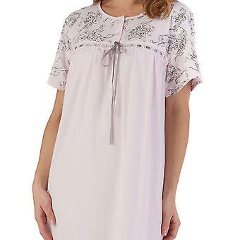 Slenderella ND55122 Kvinnor & apos; s Rosa blommig bomull nightdress