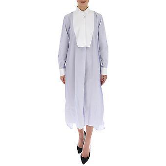 Loewe S2109610gh2105 Damen's weiß/blau Baumwollkleid
