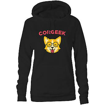 Womens Sweatshirts Hooded Hoodie- Corgeek