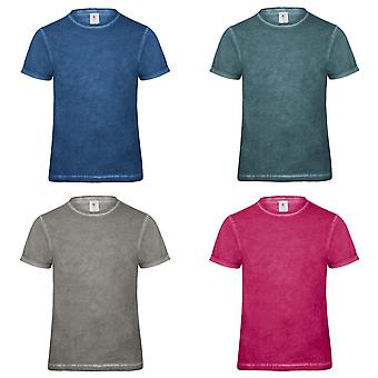 B & C Denim Mens Plug-In T-Shirt manches courtes