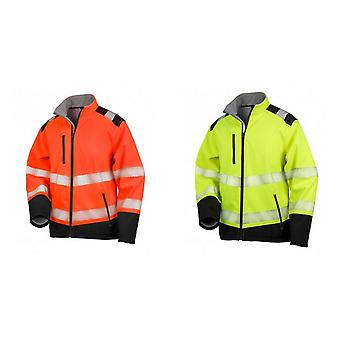 Result Adults Unisex Safe-Guard Ripstop Safety Soft Shell Jacket