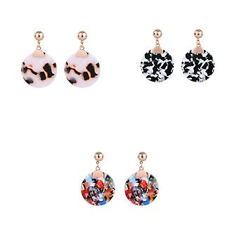 Jewelcity Sunkissed Womens/Ladies Hanging Disc Earrings