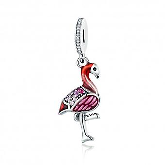 Sterling Silver Pendant Charm Flamingo - 5687