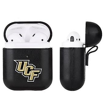 UCF Knights NCAA Fan Brander Zwart lederen AirPod Case