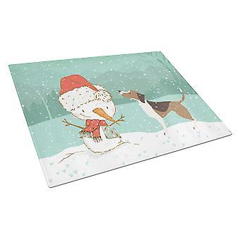 Beagle Lumiukko joululasi leikkauslauta suuri