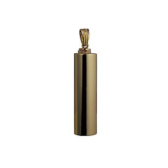 9ct Gold 40x12mm handmade plain round Memorial Cylinder