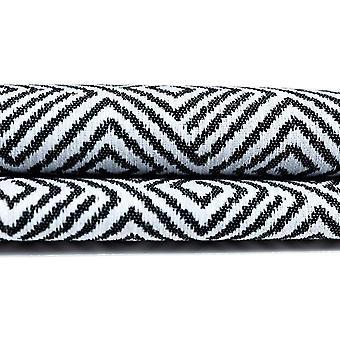 McAlister têxteis Acapulco preto + branco cortinas