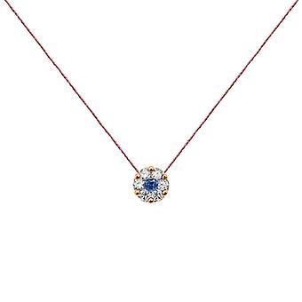 Necklace Duchess Full Diamond on Sapphire and 18K Gold, On Thread