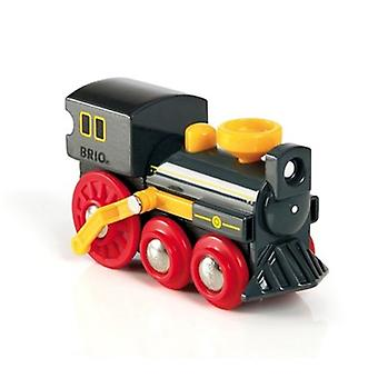 BRIO Push-along Old Steam Engine 33617 for Wooden Train Set