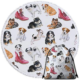 Dogs Puppies Beach Towel