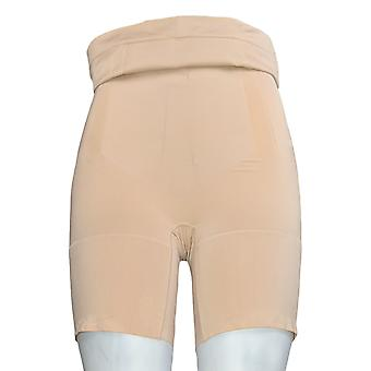 Spanx Plus Shaper High Waisted Mid-Thigh Shaping Short Beige A375574
