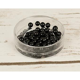 6mm Black Wooden Threading Beads Adults Crafts - 110pk
