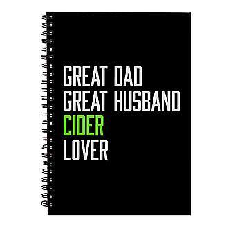 Stor pappa stor mann cider lover spiral notatbok